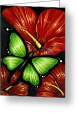 Red Blooms Greeting Card by Elaina  Wagner