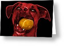 Red Boxer Mix Dog Art - 8173 - Bb Greeting Card by James Ahn