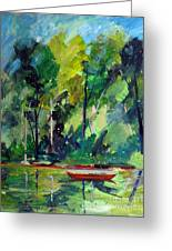 Red Canoe I I Greeting Card by Charlie Spear