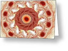 Red Circle Greeting Card by Anastasiya Malakhova