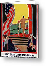 Red Cross Poster, 1919 Greeting Card by Granger