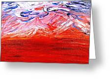 Red Desert Greeting Card by Amy Drago