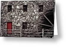 Red Door Greeting Card by Jayne Carney