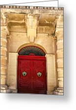 Red Door Greeting Card by Maria Coulson