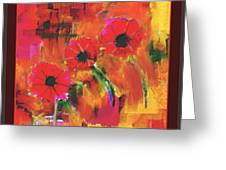 Red Flowers Greeting Card by Nedunseralathan R