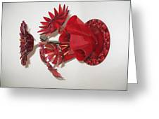 Red Flowers Greeting Card by Steven Schramek