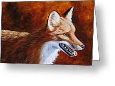 Red Fox - A Warm Day Greeting Card by Crista Forest