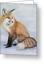 Red Fox Greeting Card by Lena Auxier