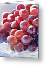 Red Grape Essence Greeting Card by Sharon Freeman