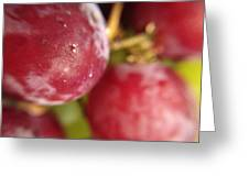 Red Grapes Greeting Card by Marian Palucci