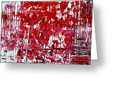 Red Grey White And Black Greeting Card by Martina Niederhauser
