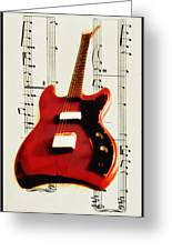 Red Guitar Greeting Card by Bill Cannon