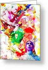 Red Hot Chili Peppers  Greeting Card by Ryan RockChromatic