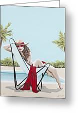 Red Hot Greeting Card by Nickie Bradley