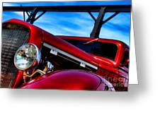 Red Hot Rod Greeting Card by Olivier Le Queinec