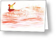 Red Hot Surfer Greeting Card by Paul Topp