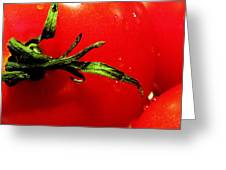 Red Hot Tomato Greeting Card by Karen Wiles