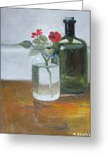 Red Impatiens Greeting Card by Mary Adam