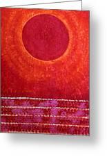Red Kachina Original Painting Greeting Card by Sol Luckman