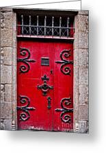Red Medieval Door Greeting Card by Elena Elisseeva