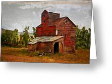 Red Mill Montana Greeting Card by Marty Koch