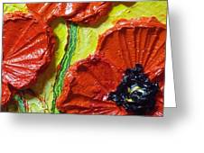 Red Poppies II Greeting Card by Paris Wyatt Llanso