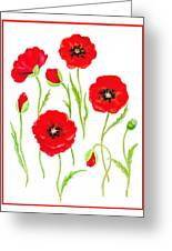 Red Poppies Greeting Card by Irina Sztukowski