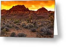 Red Rock Canyon Las Vegas Nevada Fenced Wonder Greeting Card by Silvio Ligutti