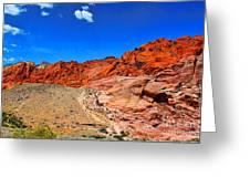 Red Rock Canyon Greeting Card by Mariola Bitner