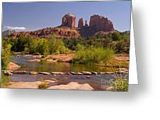 Red Rock Crossing Greeting Card by Alex Cassels
