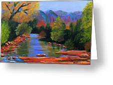 Red Rock Crossing Greeting Card by Roy Gould