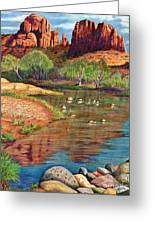 Red Rock Crossing-sedona Greeting Card by Marilyn Smith