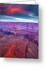 Red Rock Dusk Greeting Card by Mike  Dawson