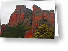 Red Rock face Greeting Card by John Stuart Webbstock