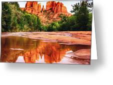 Red Rock State Park - Cathedral Rock Greeting Card by Bob and Nadine Johnston