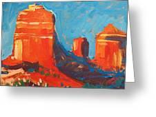 Red Rocks At Sedona Greeting Card by Micheal Jones