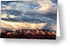 Red Rocks Of Sedona Greeting Card by Dave Bowman
