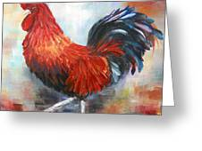Red Rooster Greeting Card by Dorothy Maier