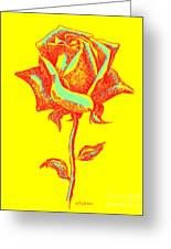 Red Rose Paintings 1 Greeting Card by Gordon Punt