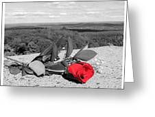 Red Rose Version 2  Greeting Card by Stephen Melcher