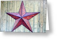 Red Rusted Star Greeting Card by Holly Blunkall