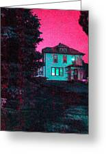 Red Skies Greeting Card by Guy Ricketts