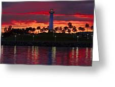 Red Skys At Night Denise Dube Photography Greeting Card by Denise Dube
