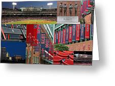 Red Sox Nation Greeting Card by Juergen Roth