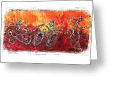 Red Splash Triathlon Greeting Card by Alejandro Maldonado