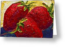 Red Strawberries II Greeting Card by Paris Wyatt Llanso