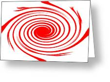 Red Swirl War  Greeting Card by Lali Kacharava