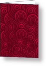 Red Swirls Greeting Card by Frank Tschakert