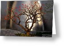Red Tree Greeting Card by Gandz Photography