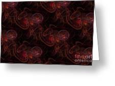 Red Waives Fractal Greeting Card by Henrik Lehnerer